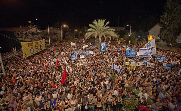 הפגנה בתל אביב במסגרת המחאה החברתית ב-2011 (צילום: דימה וזינוביץ', פלאש 90)