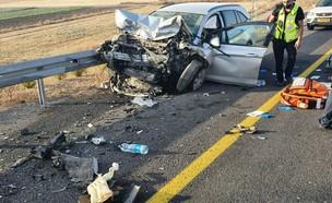 תאונת דרכים קשה (צילום: איחוד הצלה)