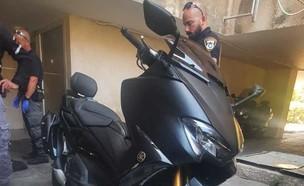 גניבת האופנוע של בן אל תבורי (צילום: איתוראן)