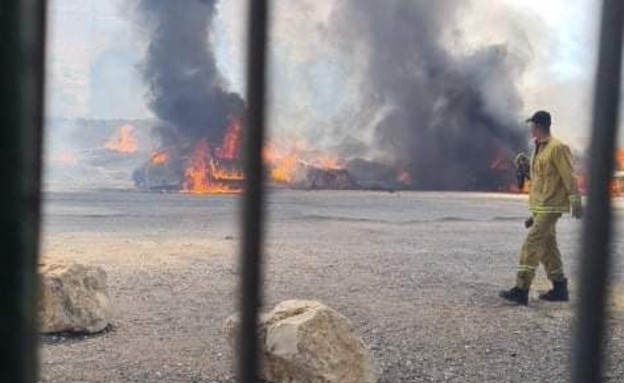 שריפה בעמק המעיינות