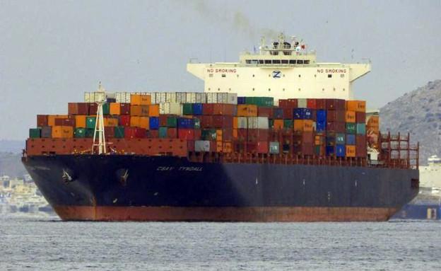ספינת המטען הישראלית שנפגעה