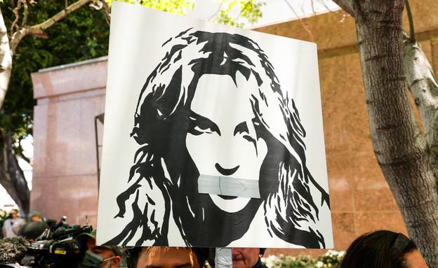 שלט מהמחאה של בריטני ספירס (צילום: GettyImages-Rich Fury / Staff)