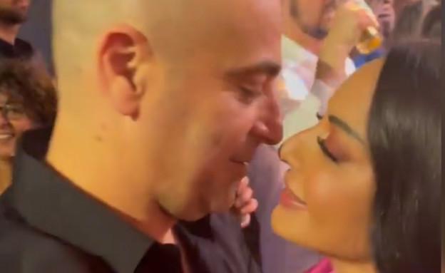 עוד קאמבק: מאיה בוסקילה ועוזי אזולאי מתנשקים (צילום: מיכל הקטנה, אינסטגרם)