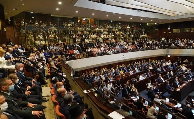 מליאת הכנסת בהשבעת הנשיא ה-11 יצחק הרצוג (צילום: נועם מושקוביץ, דוברות הכנסת)
