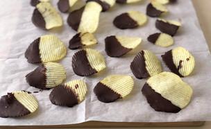 תפוציפס בציפוי שוקולד (צילום: עז תלם)