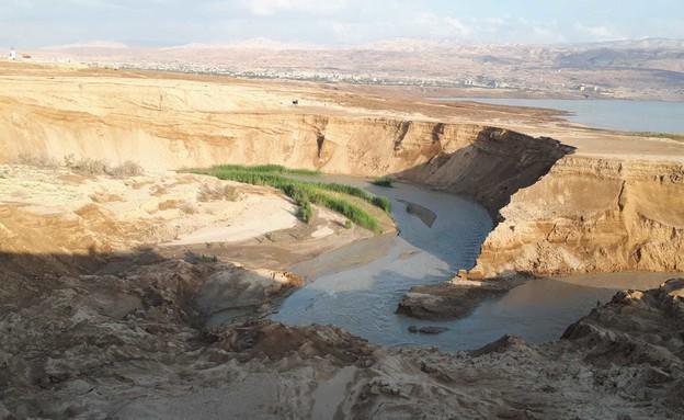 הנהר הסודי ליד ים המלח (צילום: יחידת חילוץ עין גדי)