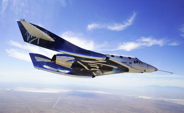 המטוס-חללית של וירג'ין גלקטיק (צילום: החדשות12, AP)