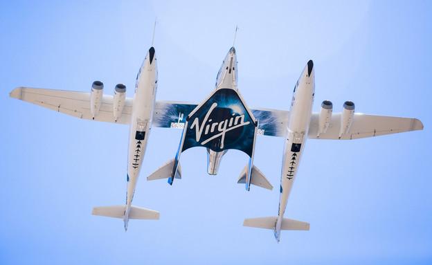 המטוס של חברת וירג'ין גלקטיק (צילום: החדשות12, AP)