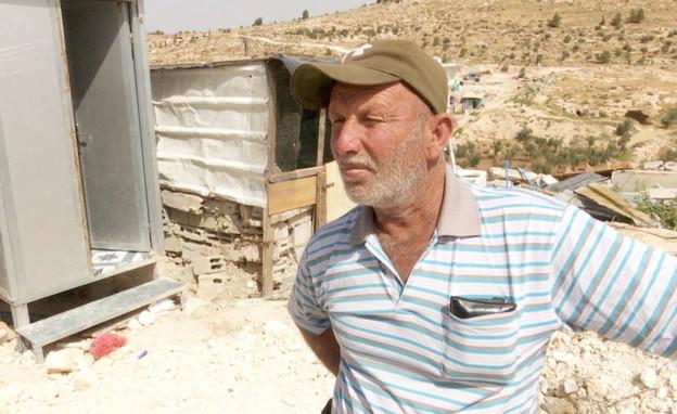 ראסמי אבו-עראם, תושב הכפר ראכיז (צילום: חדשות 12)
