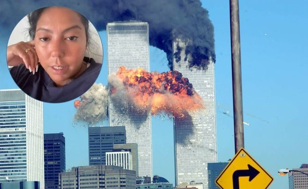 שרדה את הפיגוע במגדלי התאומים ומסרה עדות מצמררת (צילום: TikTok/@nenahysteria, Spencer Platt, getty images)