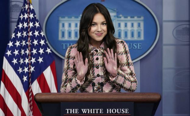 אוליביה רודריגו בבית הלבן (צילום: Susan Walsh, AP)