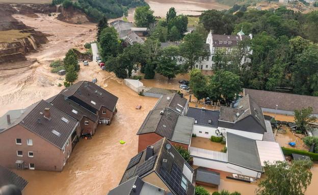 השטפונות בגרמניה (צילום: רויטרס)