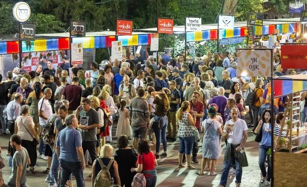 אירועים בתשלום 2021 חוצות היוצר מתחם אוכל. (צילום: סוכנות הצילום שמואל כהן)