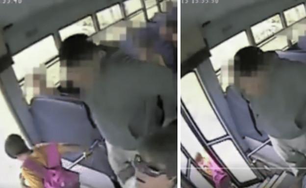 תיעוד: נהגת האוטובוס גררה את הילדה על הכביש (צילום: Fifty Shades of Whey, twitter)
