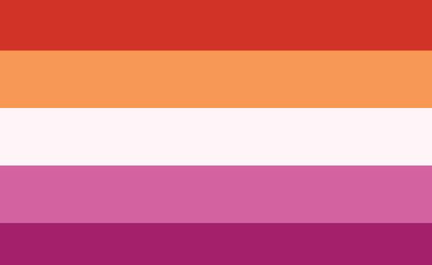 דגל הקהילה הלסבית (צילום: Vector bucket, Shutterstock)