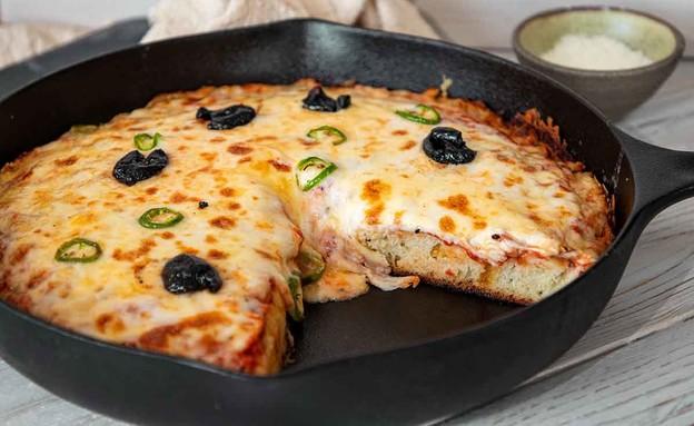 פיצה מהירה במחבת (צילום: חן מזרחי, חן במטבח)