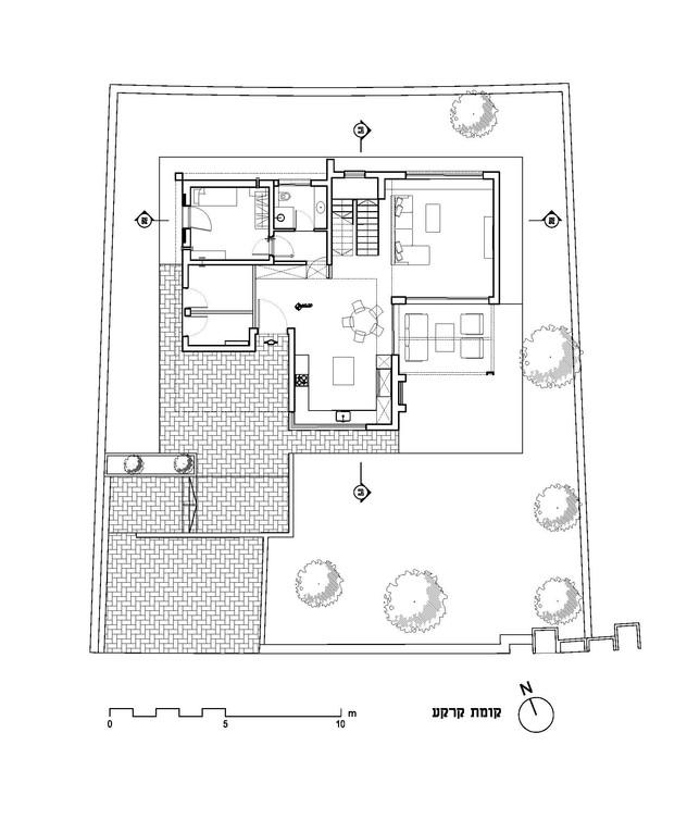 בית בקיבוץ מגל, עיצוב לילך פלד, ג, תוכנית קומת קרקע