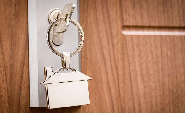 מפתח לדירה בצורת בית (צילום: 123rf)