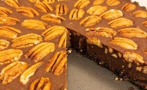פאי שוקולד טחינה ופקאן (צילום: פאני דוד, אוכל טוב)
