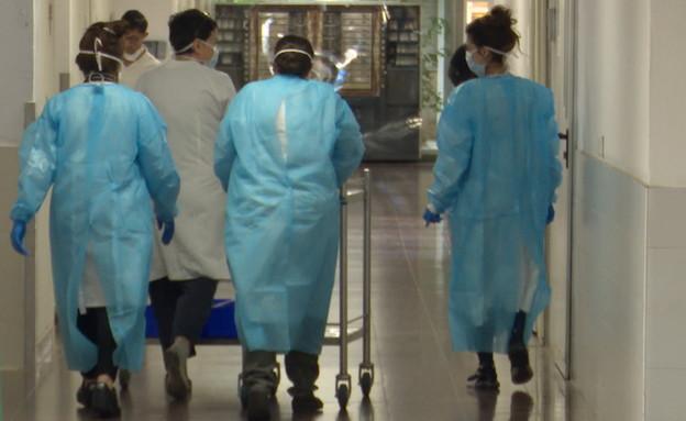 היערכות בבתי החולים, מחלקות קורונה נפתחות מחדש (צילום: חדשות 12)