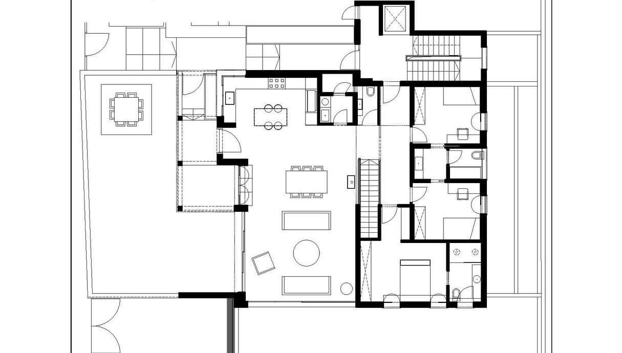 בית בעיר בשרון, עיצוב בלומנפלד מור אדריכלים, תוכנית אדריכלית