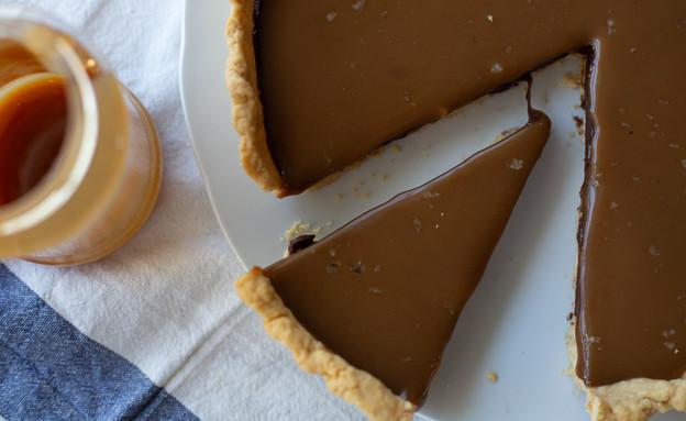 פאי שוקולד וקרמל מלוח (צילום: נופר צור, אוכל טוב)