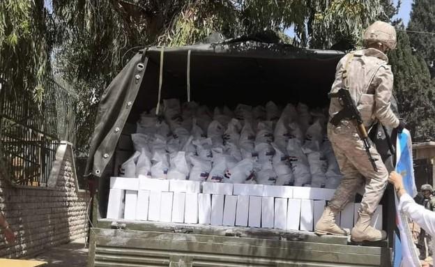 רוסים מעניקים סיוע בגולן הסורי