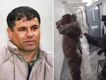 """נחשף: רגע המעצר של אל צ'אפו לפני שהוסגר לארה""""ב"""