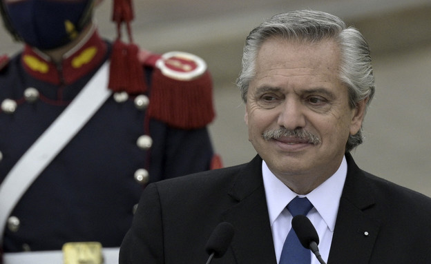 נשיא ארגנטינה אלברטו פרננדס (צילום: JUAN MABROMATA/AFP, GettyImages)