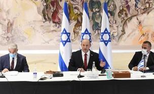 """ראש הממשלה נפתלי בנט בישיבת ממשלה (צילום: עמוס בן גרשום, לע""""מ)"""