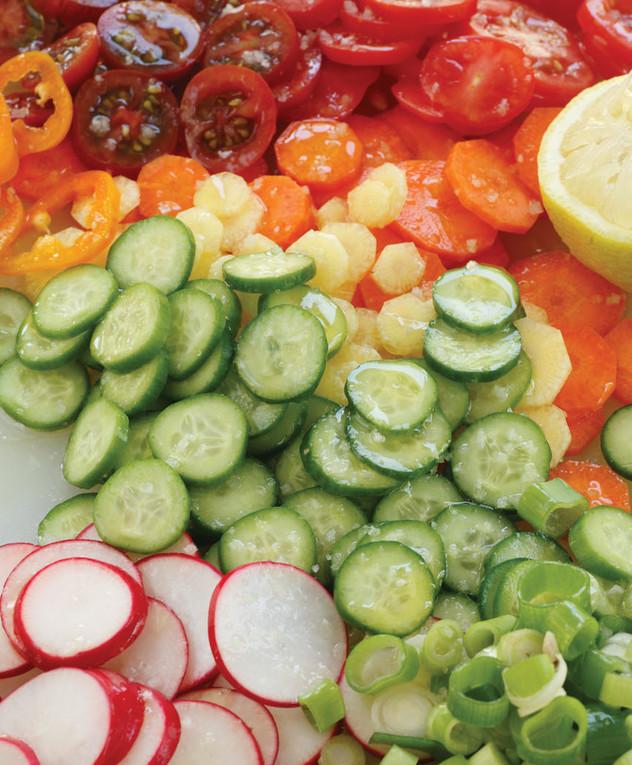 סלט עיגולי ירקות