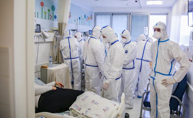 מחלקות הקורונה בבתי החולים (צילום: פלאש 90)