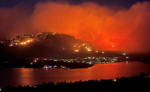 שריפות בקולומביה הבריטית בקנדה (צילום: reuters)