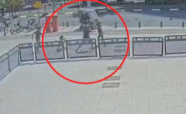 קטטה אלימה מול בית המשפט בתל אביב