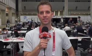שליח חדשות 12 בן מיטלמן מדווח מהאולימפיאדה בטוקיו (צילום: חדשות 12)