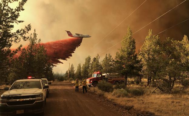 """שרפות ענק באורגון, ארה""""ב (צילום: AP)"""