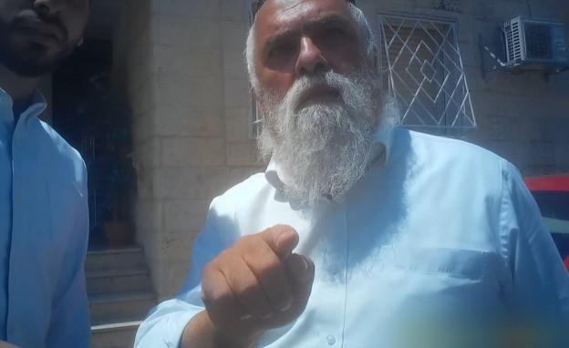 """שלמה חדאד: """"אני לא מקלל, אני מקפיד עליך"""" (צילום: חדשות 12)"""