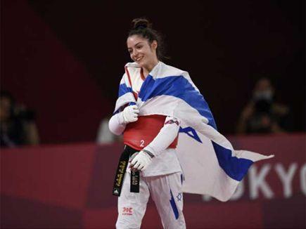 גאווה ישראלית ענקית (צילום: עמית שיסל, באדיבות הוועד האולימפי בישר (צילום: ספורט 5)