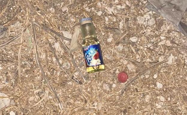 בקבוק תבערה של חוליית המחבלים