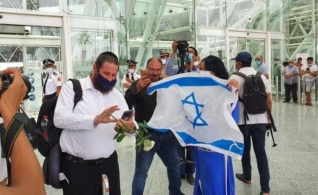 קבלת הפנים לישראלים במרוקו (צילום: שמעון איפרגן)