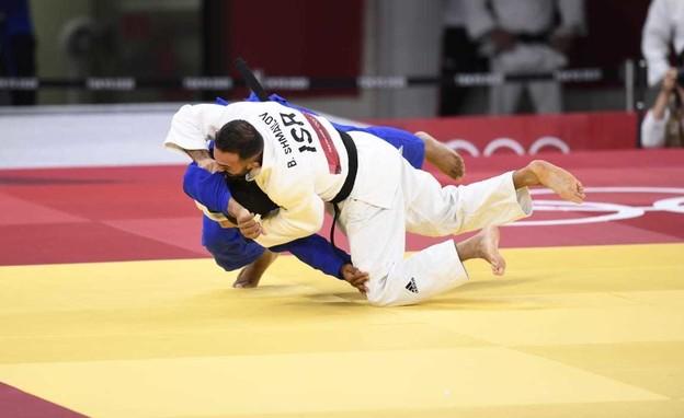 ברוך שמאילוב נלחם (צילום:  עמית שיסל, הוועד האולימפי בישראל)