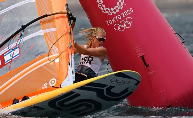 קטי ספיצ'קוב ביום התחרויות השני שלה בשייט (צילום: reuters)