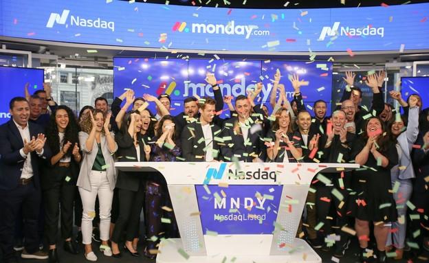 """טקס פתיחת המסחר של חברת מאנדיי (צילום: נאסד""""ק)"""