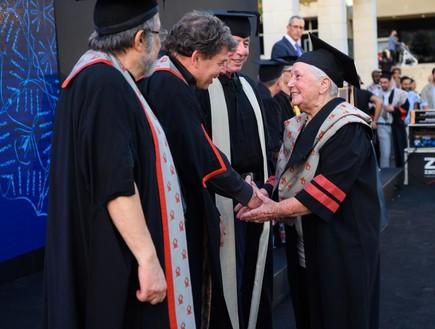 """ד""""ר גילה מלמוד בטקס הענקת התואר (צילום: דני מכליס, אוניברסיטת בן גוריון בנגב)"""