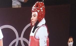 הכפילה של ליידי גאגא באולימפיאדה (צילום: מתוך הטוויטר)