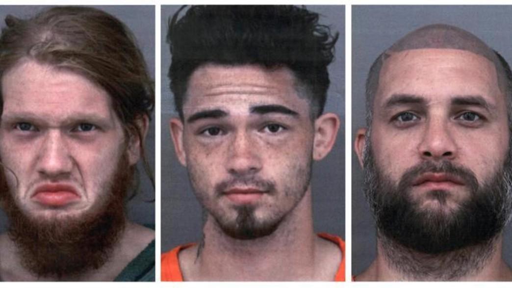 מימין לשמאל: בילי פיליפס, ג'סי פאולוסקי ודילן וולש (צילום: Cherokee County Sheriff's Office)