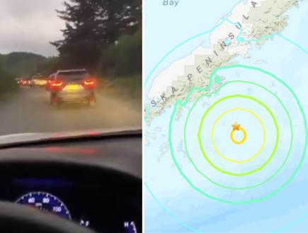 אלסקה: רעידת אדמה מאסיבית נמדדה בדרום המדינה - חשש לצונאמי