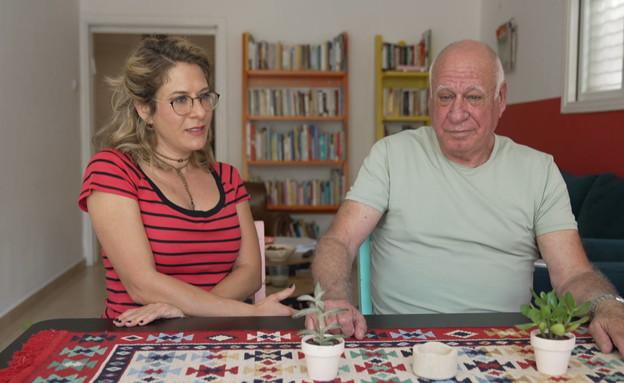 עדי אלטשולר ואביה ארז (צילום: חדשות 12)