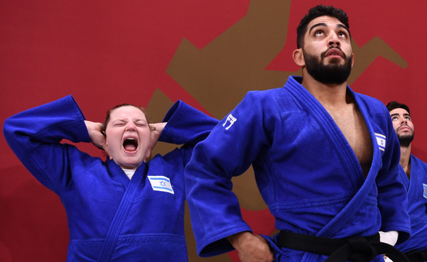 נבחרת ישראל בג'ודו טוקיו 2020 (צילום: רויטרס)