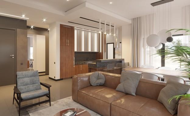 """דירה נתניה (צילום: א. פריאון אדריכלים ומתכנני ערים בע""""מ)"""